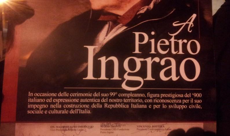 Ambrogio Sparagna a Lenola per i festeggiamenti di Pietro Ingrao