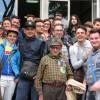 24 Aprile 2014 Francesco Centola, classe 1920, marinaio e poi alpino, incontra gli studenti di Formia