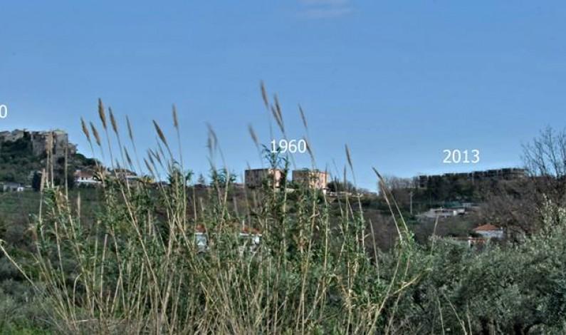 Miglioramenti nel paesaggio… il cambiamento (progresso!?) della Skyline (Linea del cielo) a Castellonorato (Formia).