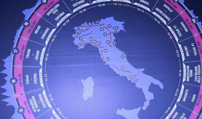 Giro d'Italia 2015: carovana parte da Sanremo. Torna Milano Cronometro di 266 km e torna Mortirolo, Contador già sogna