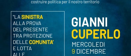 MERCOLEDI 9 DICEMBRE 2020 – ORE 18 SU PIATTAFORMA ZOOM  INCONTRO CON GIANNI CUPERLO