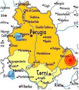 Cartina Geografica Spoleto.I Terremoti Storici Dell Umbria