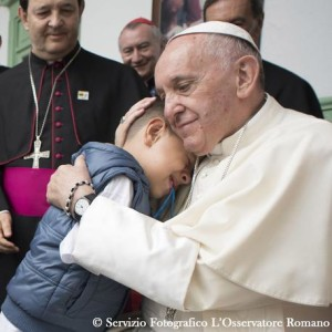 Pope Francis at Hogar San José in Medellin
