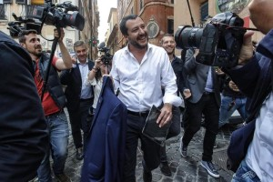 Leader of Lega party Matteo Salvini